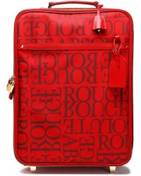 Valentino - Leather-trimmed Printed Twill Suitcase - Lyst