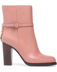 Roberto Cavalli - Leather Ankle Boots Antique Rose - Lyst