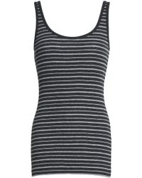 Vince - Striped Ribbed Pima Cotton Tank - Lyst