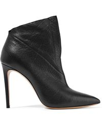 Casadei - Textured-leather Ankle Boots - Lyst