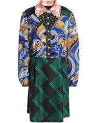 COACH - Printed Gauze, Crepe De Chine And Crepe Mini Shirtdress - Lyst