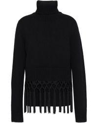 Michael Kors - Tassel-trimmed Cashmere Turtleneck Sweater - Lyst