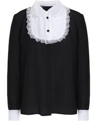 Raoul - Lace-trimmed Silk Crepe De Chine Shirt - Lyst
