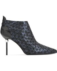 Roger Vivier - Embellished Printed Leather Ankle Boots Midnight Blue - Lyst