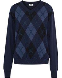 Acne Studios - Argyle Merino Wool Sweater - Lyst