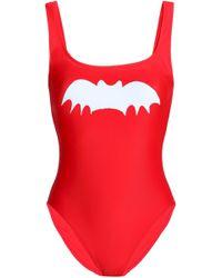 Zoe Karssen Printed Swimsuit Tomato Red