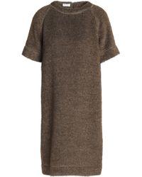 78498ed8c400b Brunello Cucinelli Tulle-trimmed Wool-jersey Turtleneck Midi Dress ...