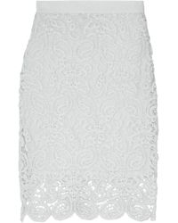 Miguelina - Cotton-lace Skirt Sky Blue - Lyst