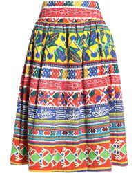 Stella Jean - Gathered Cotton-blend Tweed Skirt - Lyst