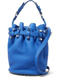 Alexander Wang - Diego Studded Textured-leather Shoulder Bag Bright Blue - Lyst