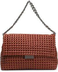 Stella McCartney - Woven Faux Leather Shoulder Bag - Lyst