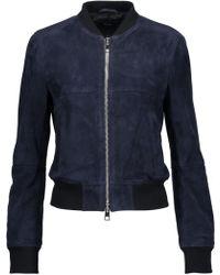 Theory - Daryette Suede Jacket Midnight Blue - Lyst