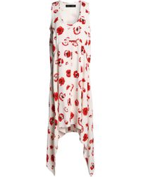Proenza Schouler - Floral-print Crepe Midi Dress - Lyst
