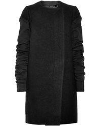 Rick Owens - Panelled Wool-felt Coat - Lyst