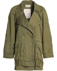 Current/Elliott - Cotton-twill Jacket Army Green - Lyst
