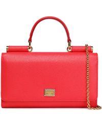 Dolce & Gabbana - Sicily Von Textured-leather Shoulder Bag - Lyst