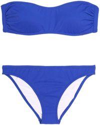 Iris & Ink - Sally Bandeau Bikini Cobalt Blue - Lyst