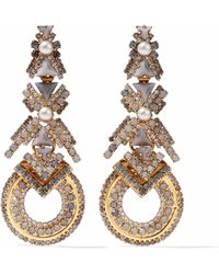 Elizabeth Cole - Gold-tone, Faux Pearl, Stone And Crystal Earrings - Lyst