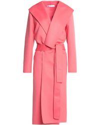 Oscar de la Renta - Belted Wool And Cashmere-blend Coat - Lyst