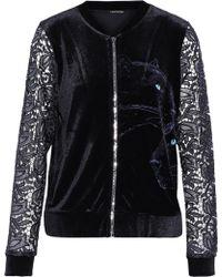 Elie Tahari - Jaclynne Guipure Lace-paneled Printed Velvet Jacket - Lyst