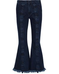 Marques'Almeida - Frayed Mid-rise Flared Jeans - Lyst