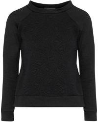 Kain Tie-dyed Cotton-fleece Sweatshirt Black