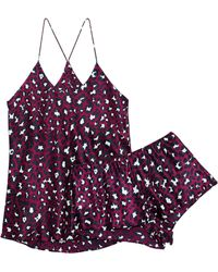 Olivia Von Halle - Bella Marilyn Leopard-print Silk Pajama Set - Lyst