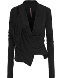 Rick Owens Lilies - Jersey Wrap Top - Lyst