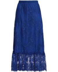 Maje - Embroidered Tulle Midi Skirt - Lyst