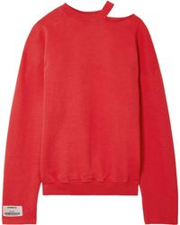 Vetements - Cutout French Cotton-blend Terry Sweatshirt - Lyst