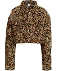 RE/DONE - Leopard-jacquard Jacket Animal Print - Lyst