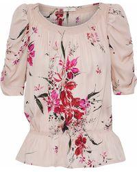 Joie - Kennon Floral-print Silk Crepe De Chine Blouse - Lyst