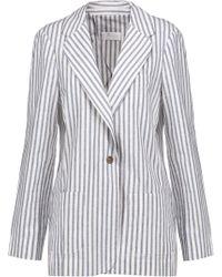 Zimmermann - Zephyr Striped Cotton And Linen-blend Blazer - Lyst
