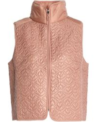 See By Chloé | Panelled Quilted Shell Vest Antique Rose | Lyst