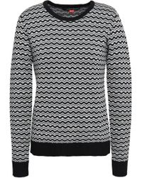 Perfect Moment - Woman Merino Wool Jacquard Sweater Black - Lyst