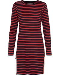 10 Crosby Derek Lam - Buckle-detailed Striped Cotton-jersey Mini Dress - Lyst