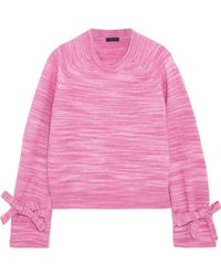 J.Crew - Bow-detailed Marled Knitted Jumper - Lyst