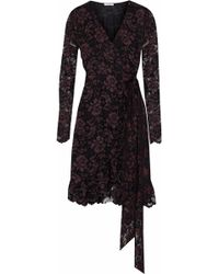 Ganni - Flynn Lace Wrap Dress - Lyst