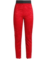 Dolce & Gabbana - Corded Lace Skinny Trousers - Lyst