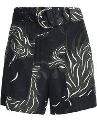 Nina Ricci - Belted Printed Silk Shorts - Lyst