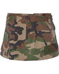 Marc Jacobs - Camouflage-print Cotton-twill Mini Skirt - Lyst