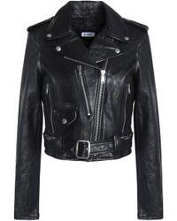Levi's - Leather Biker Jacket - Lyst