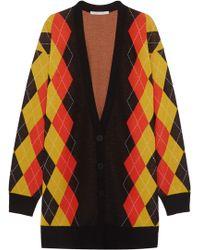 Stella McCartney - Oversized Argyle Wool Cardigan - Lyst