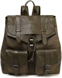 Proenza Schouler - Ps1 Canvas And Brushed-leather Backpack Army Green - Lyst