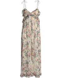 56d3412780 Zimmermann - Woman Cropped Ruffle-trimmed Floral-print Silk-georgette  Jumpsuit Ivory -