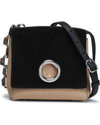 Alexander Wang - Suede And Textured-leather Shoulder Bag - Lyst