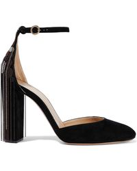Chloé - Bead-embellished Suede Pumps - Lyst