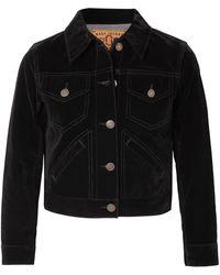 Marc Jacobs - Woman Cropped Velvet Jacket Black - Lyst