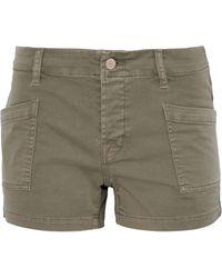 J Brand - Cotton-blend Twill Shorts - Lyst