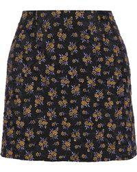 Goen.J - Woman Quilted Jacquard Mini Skirt Black - Lyst